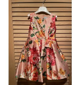 Abel & Lula Melocoton Floral Dress with Tule Underskirt