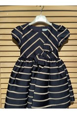 Abel & Lula Marino Stripe Dress with Accent Bow