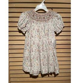 Casero Little Girls Emroidered Leafy Dress