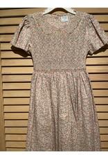 Casero Girls Flower Embroidered Dress with Waist Tie