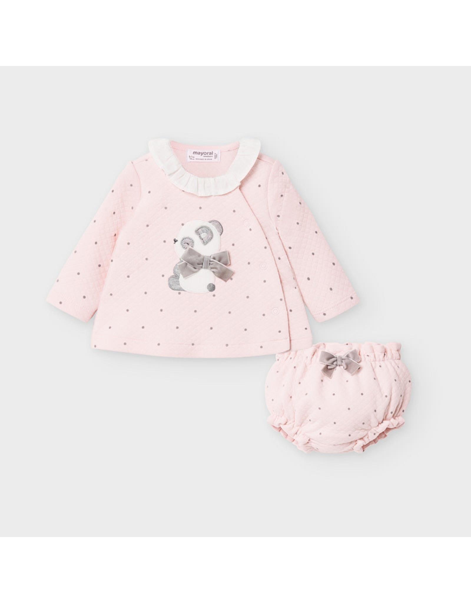 Mayoral Rose Shirt/Bloomer Set