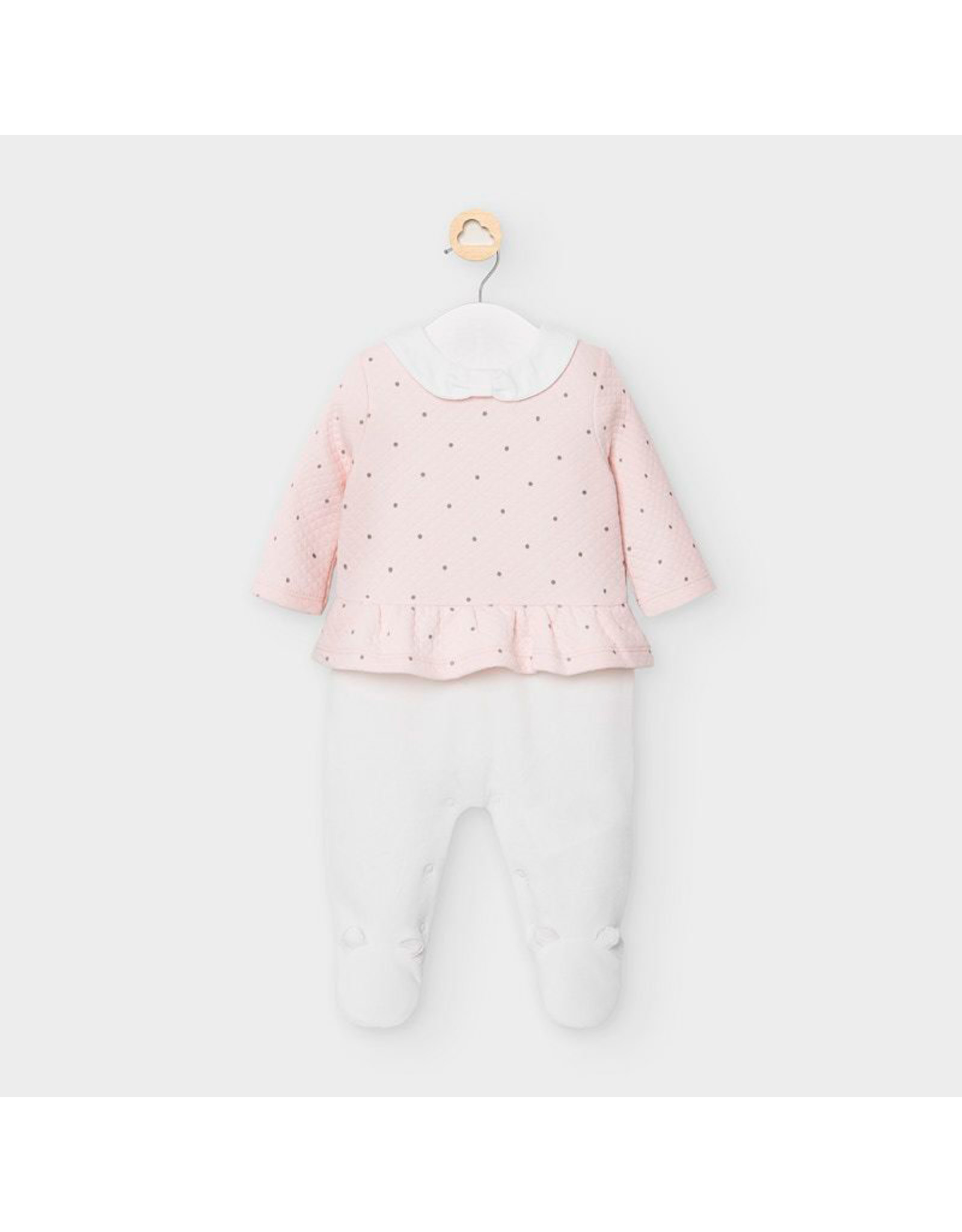 Mayoral Pullover Overall in Baby Rose