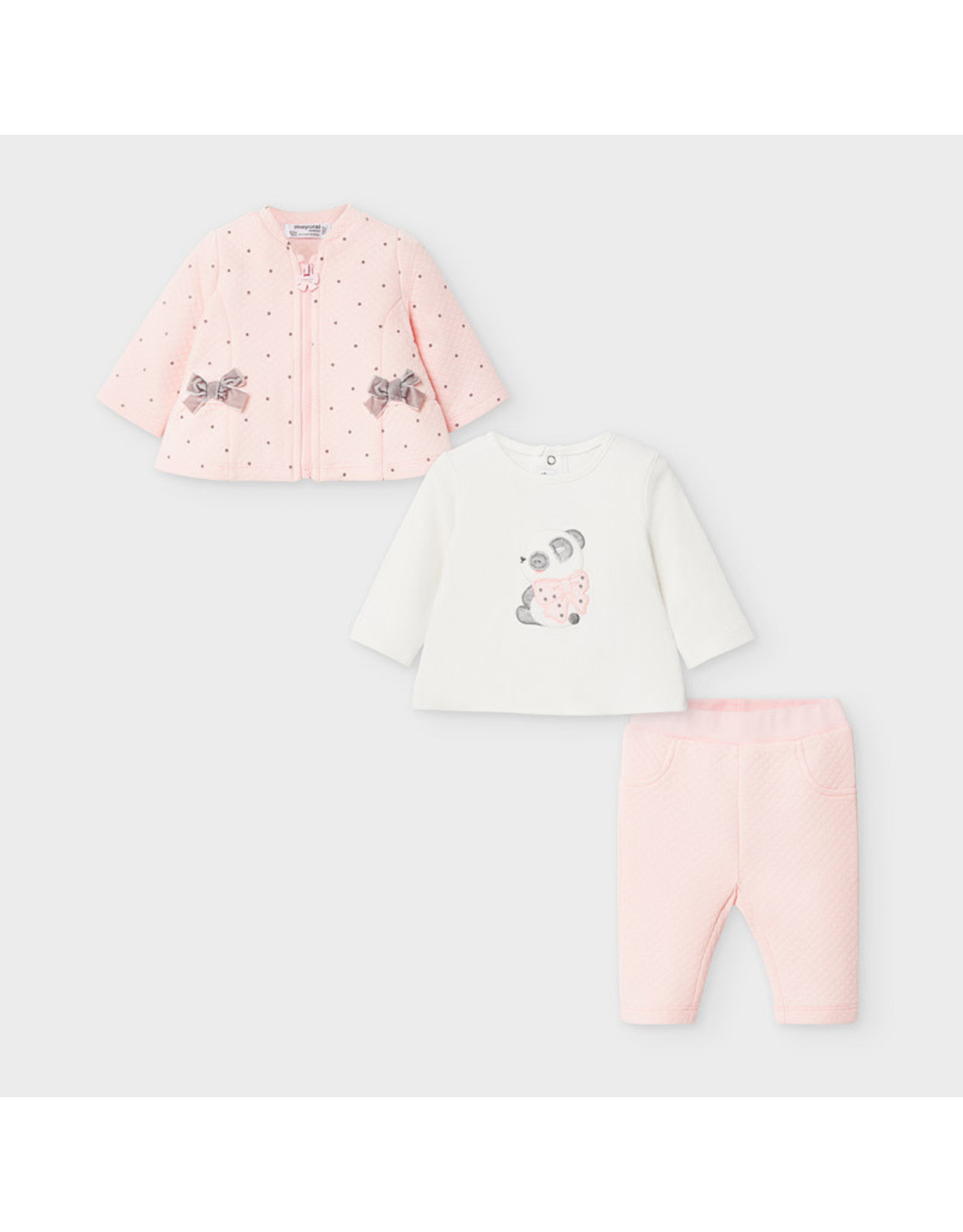Mayoral Tracksuit 3 Piece Set in Baby Rose