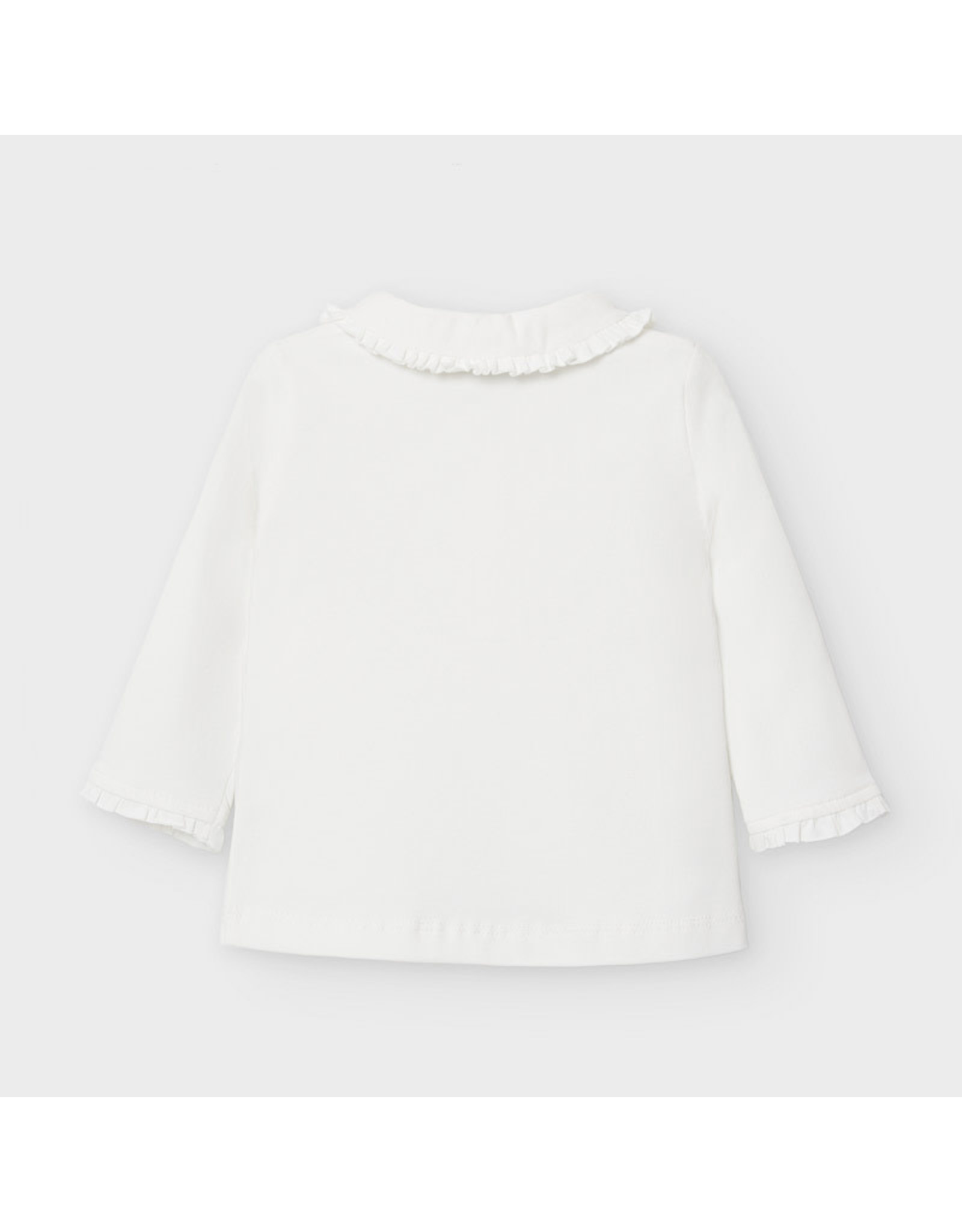 Mayoral Long Sleeve Basic Polo - Natural