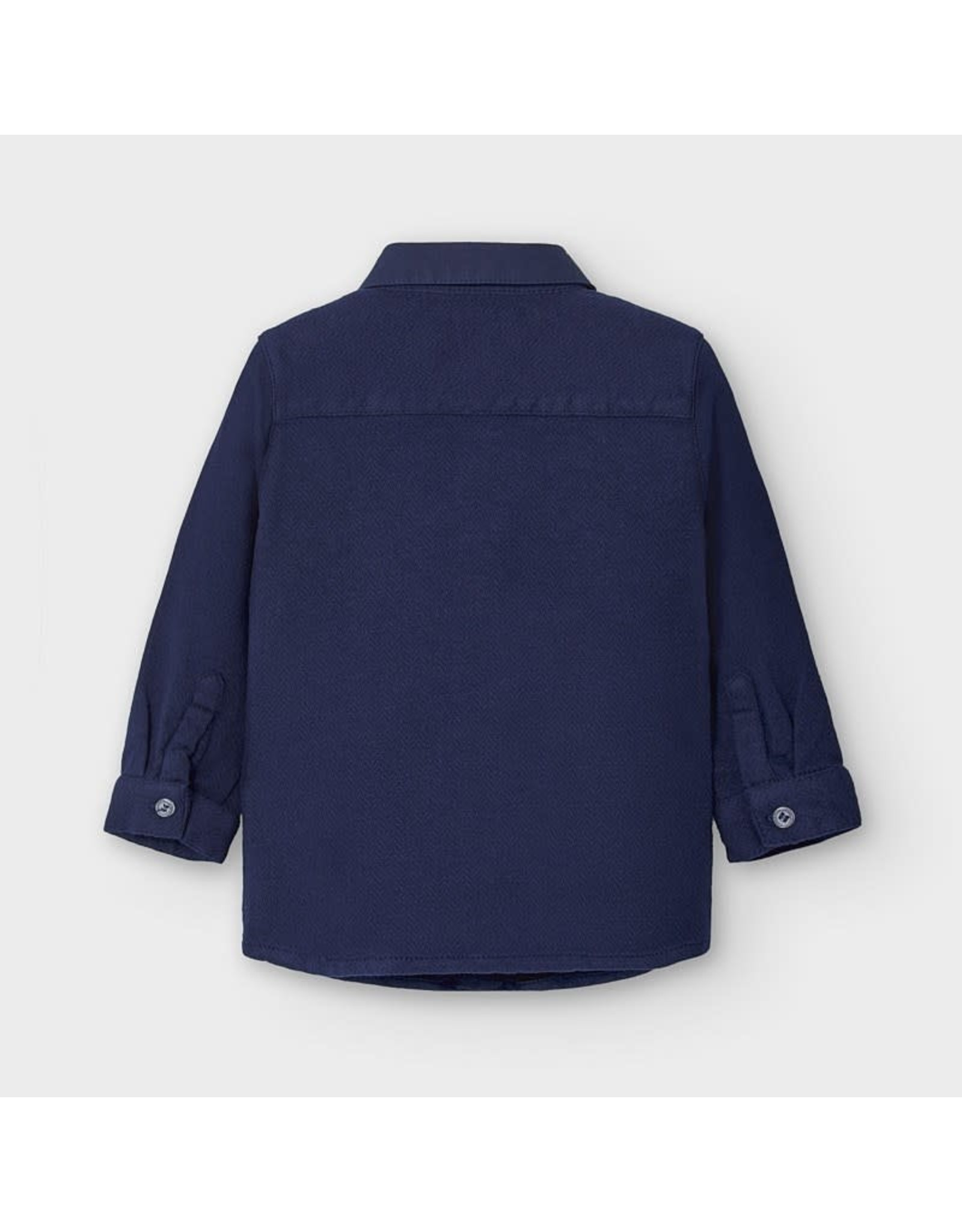 Mayoral Long Sleeve Blue Button Up