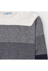 Mayoral Grayscale Stripe Sweater