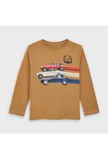 Mayoral Mocha Long Sleeve Car T-Shirt