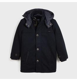 Mayoral Boys Deep Blue Mixed Coat with Hood
