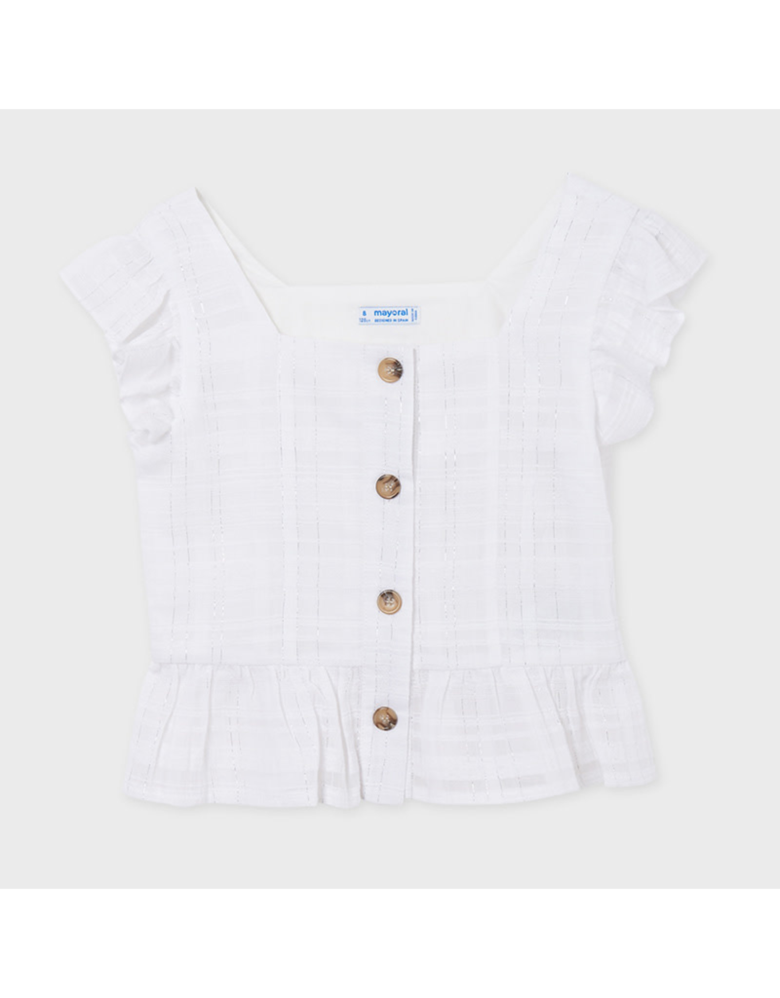 Mayoral Blouse with Lurex buttons