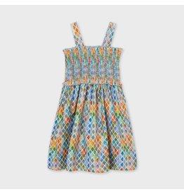 Mayoral Printed Dress - Lemon
