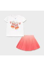 Mayoral Coral Skirt Set