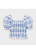 Mayoral Plaid Blouse Bees