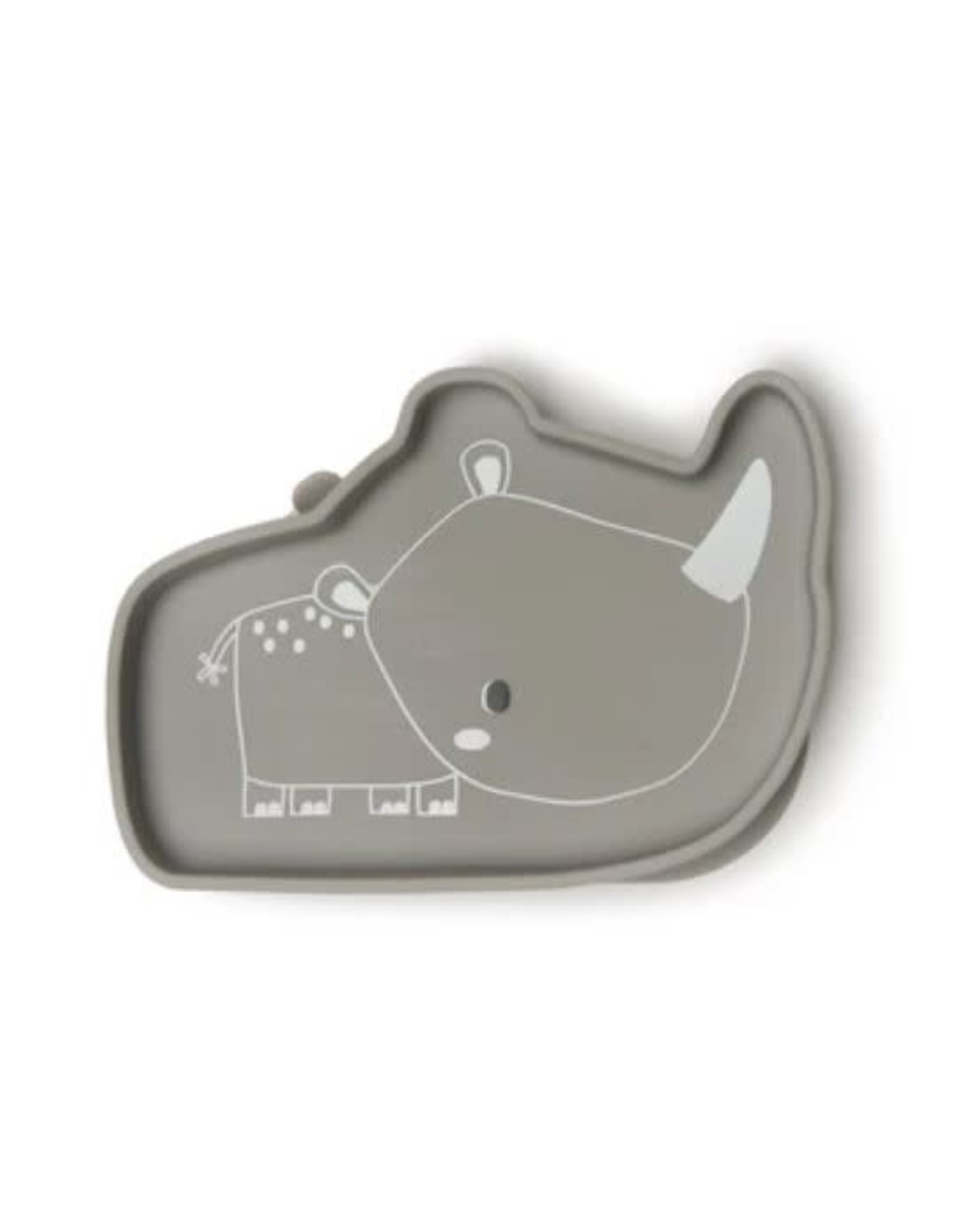 Loulou Lollipop Born to be Wild Silicone Snack Plate - Rhino