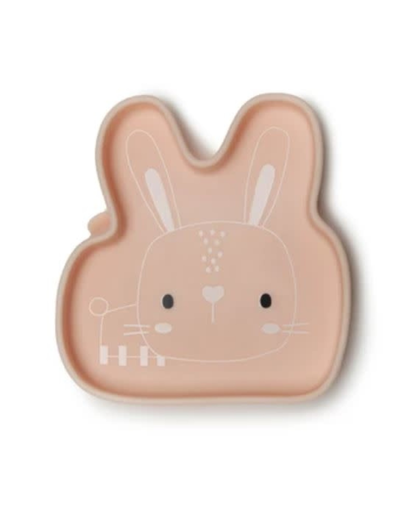 Loulou Lollipop Born to be Wild Silicone Snack Plate - Bunny