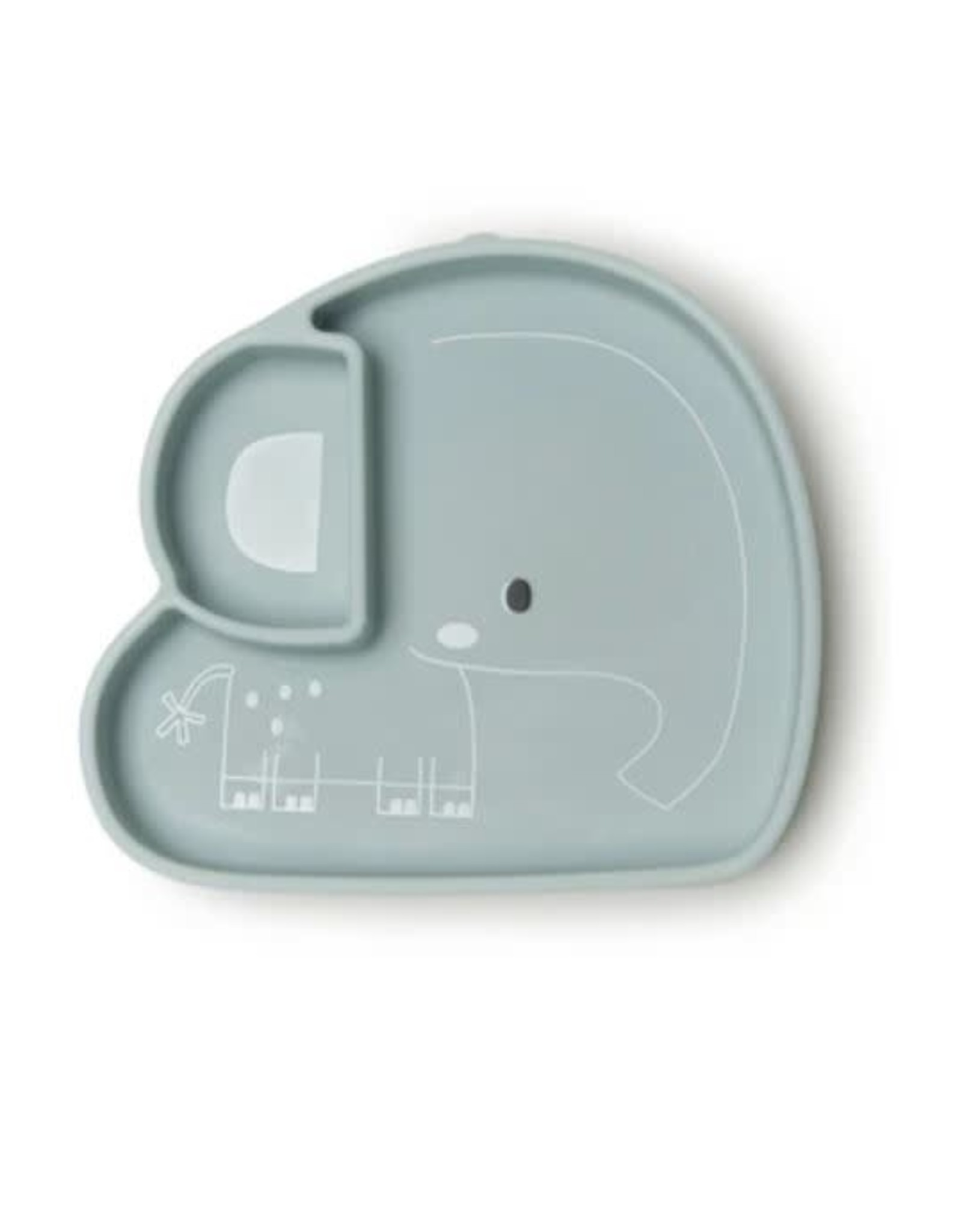 Loulou Lollipop Born to be Wild Silicone Snack Plate - Elephant