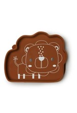 Loulou Lollipop Born to be Wild Silicone Snack Plate - Lion