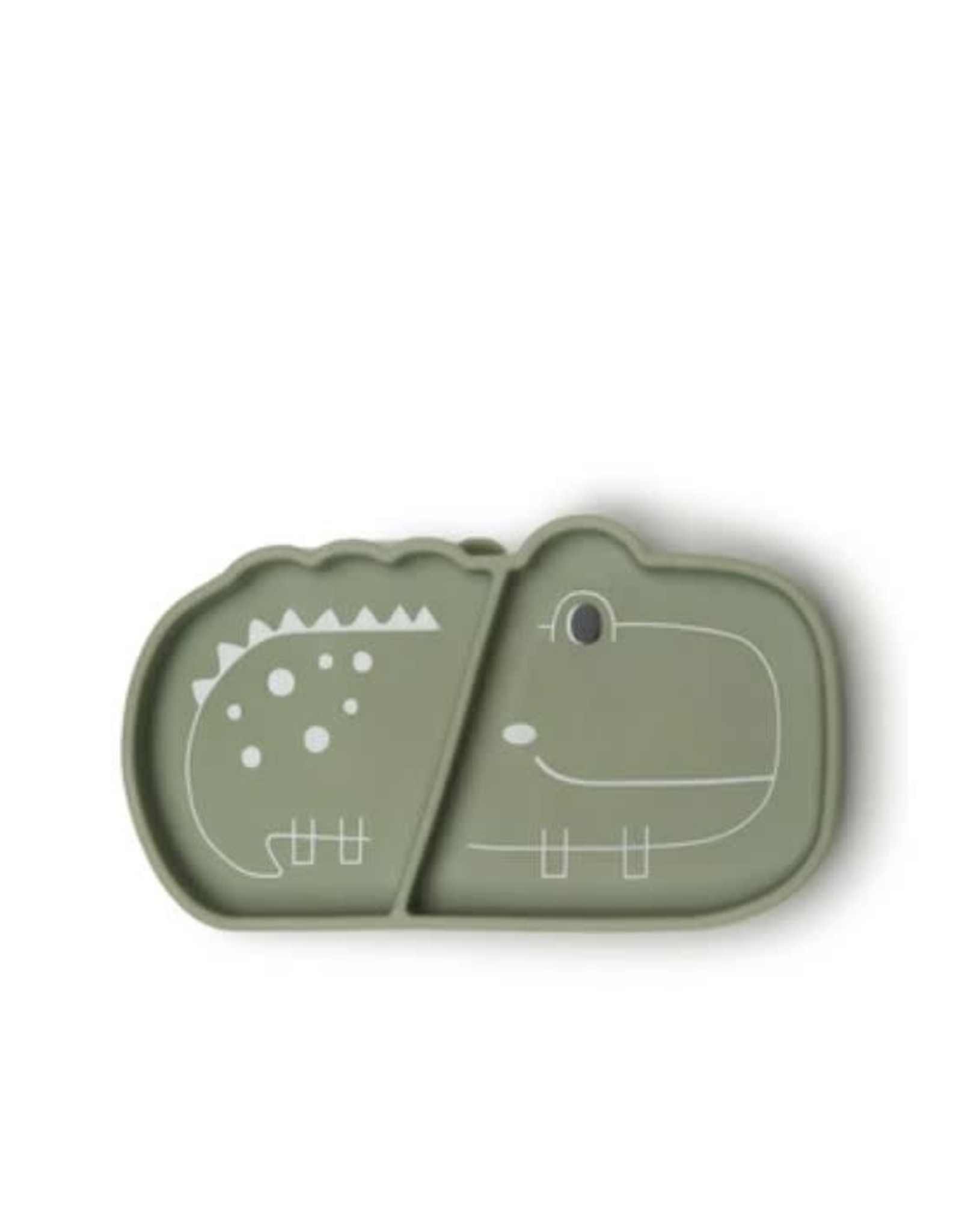 Loulou Lollipop Born to be Wild Silicone Snack Plate - Alligator