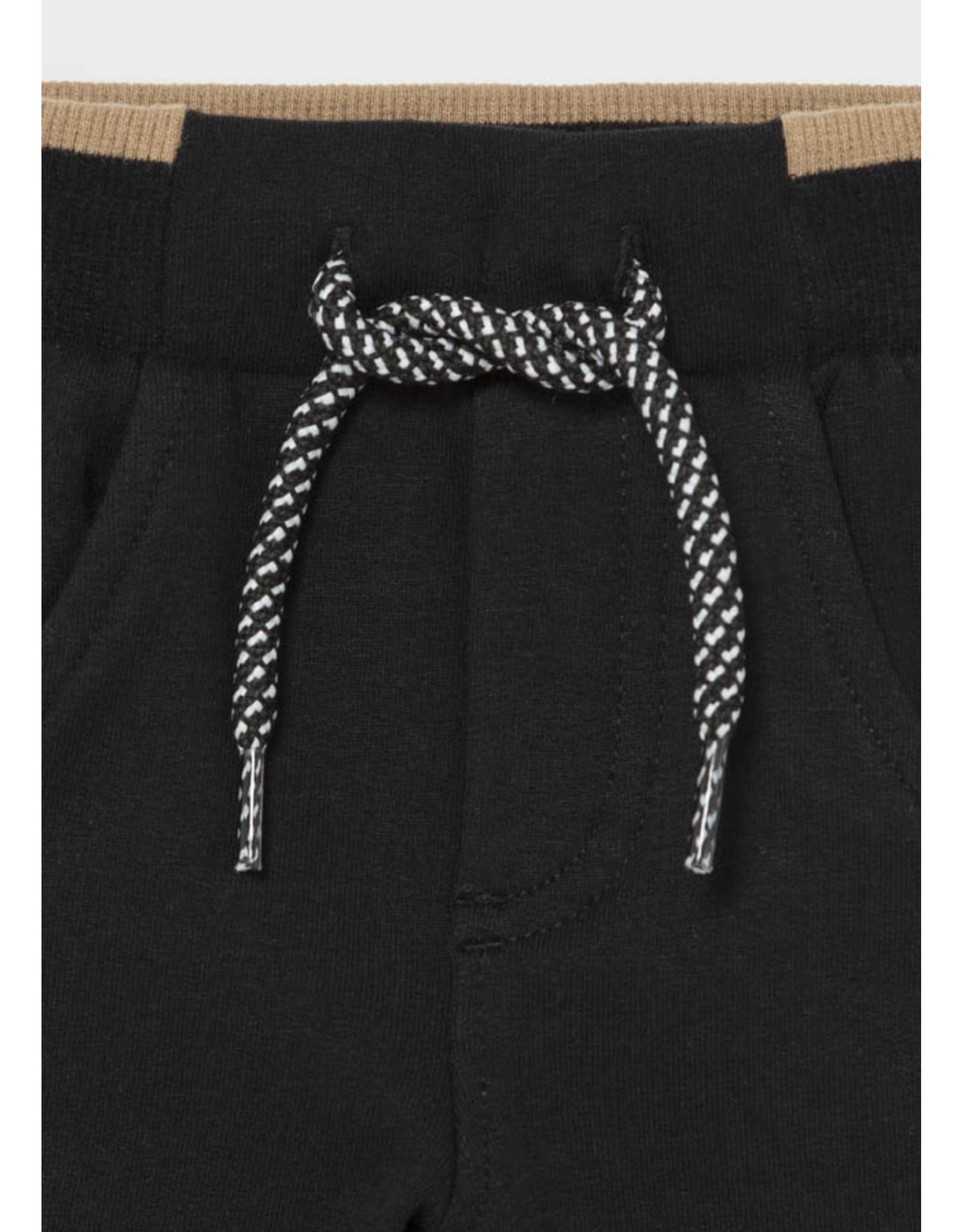 Mayoral Fleece Basic Trousers - Black