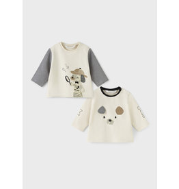 Mayoral Baby Boy Puppies 2 Shirt Set