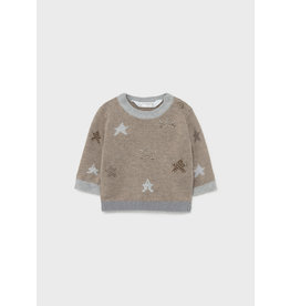 Mayoral Jacquard Sweater with Stars