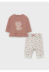 Mayoral Pants and Pullover Set - Terracotta Kitten