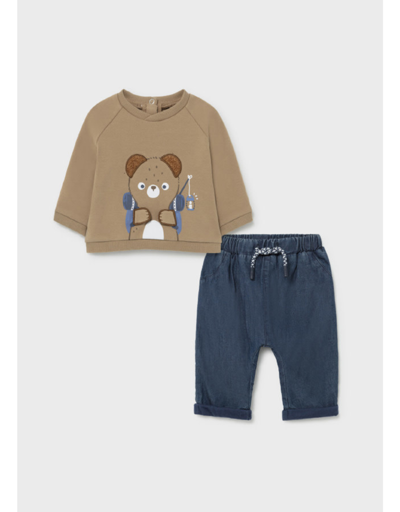 Mayoral Baby Bear Pullover and Denim Trousers