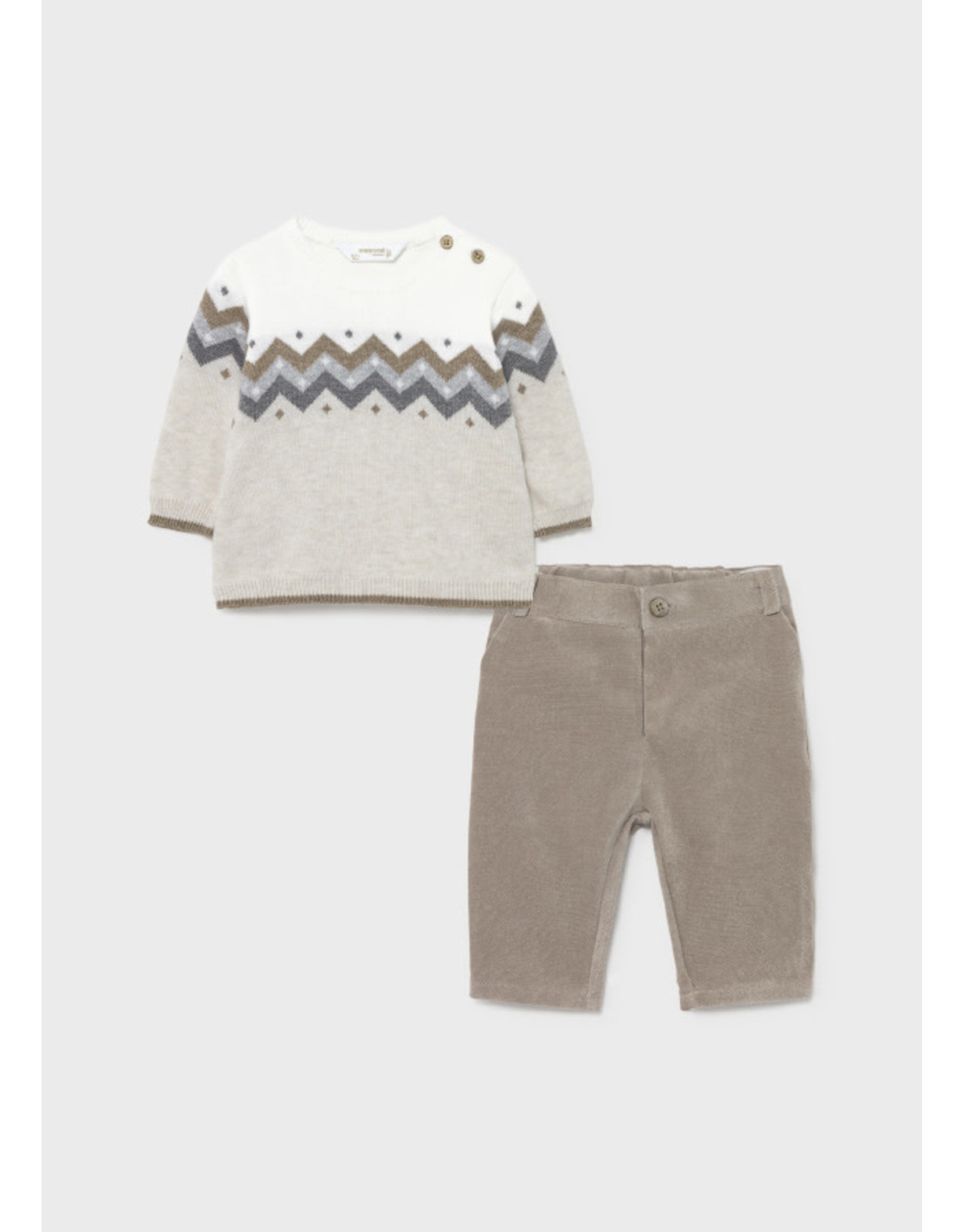 Mayoral Baby Boy Long Trousers with Sweater Set
