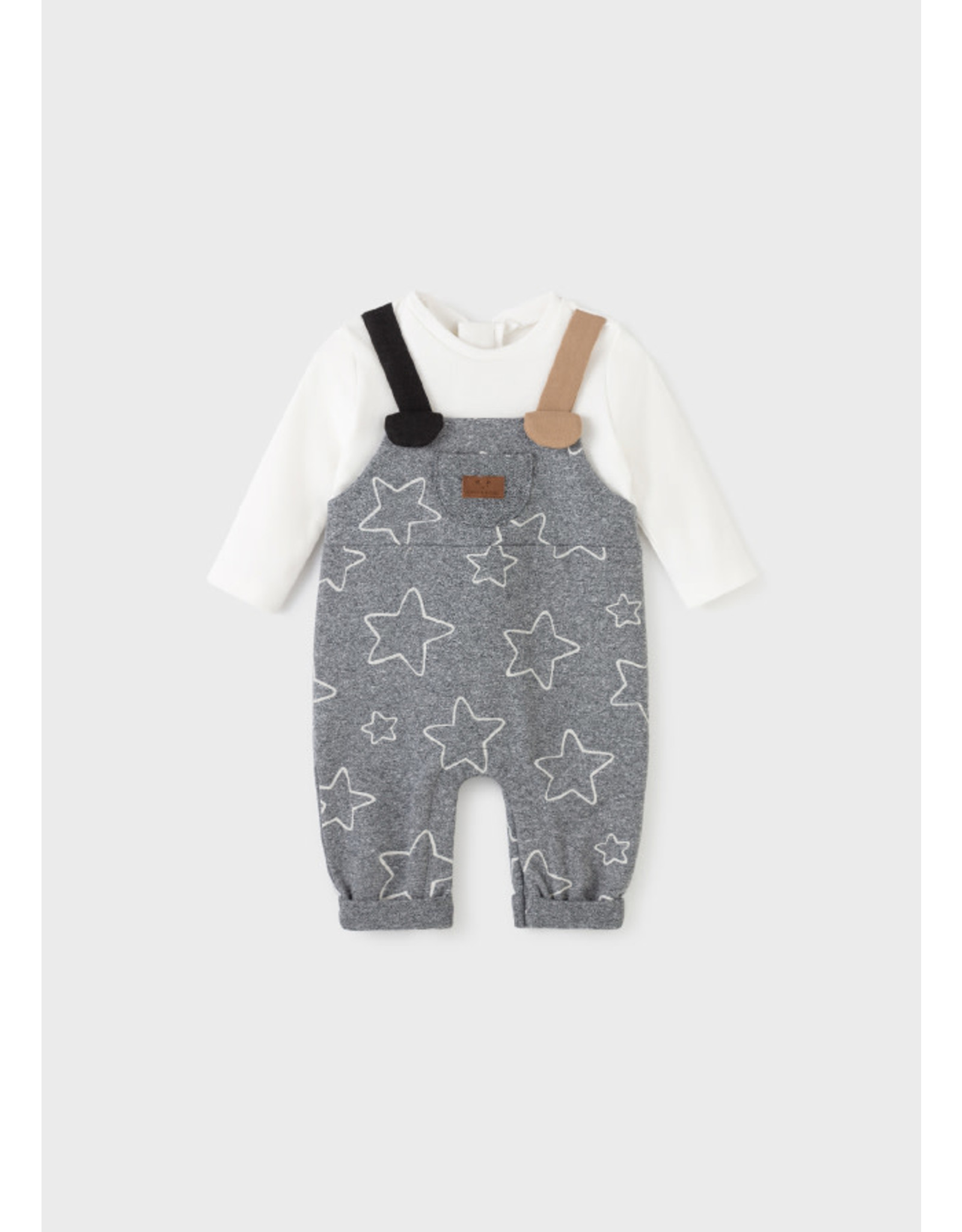 Mayoral Romper Overall with long sleeves