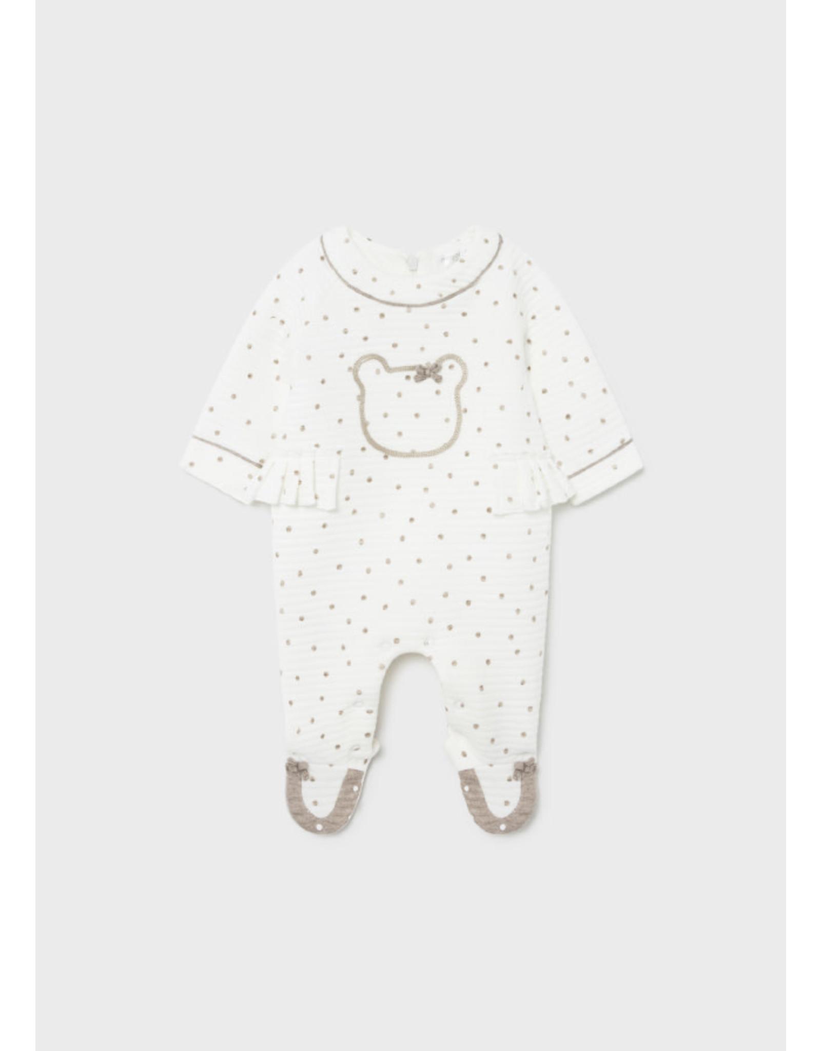 Mayoral Baby Girl Footed Onesie - Natural