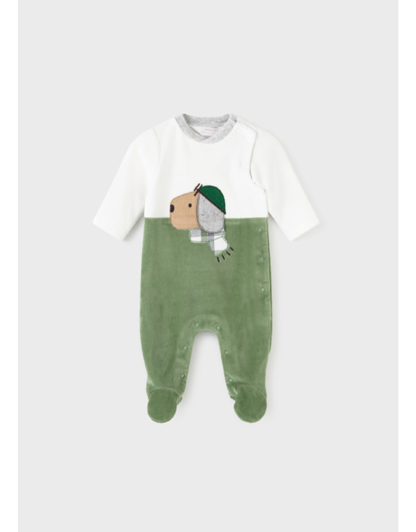 Mayoral Pine Green Matched Romper