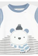 Mayoral Polar Bear Velour Onesies (set of 2)