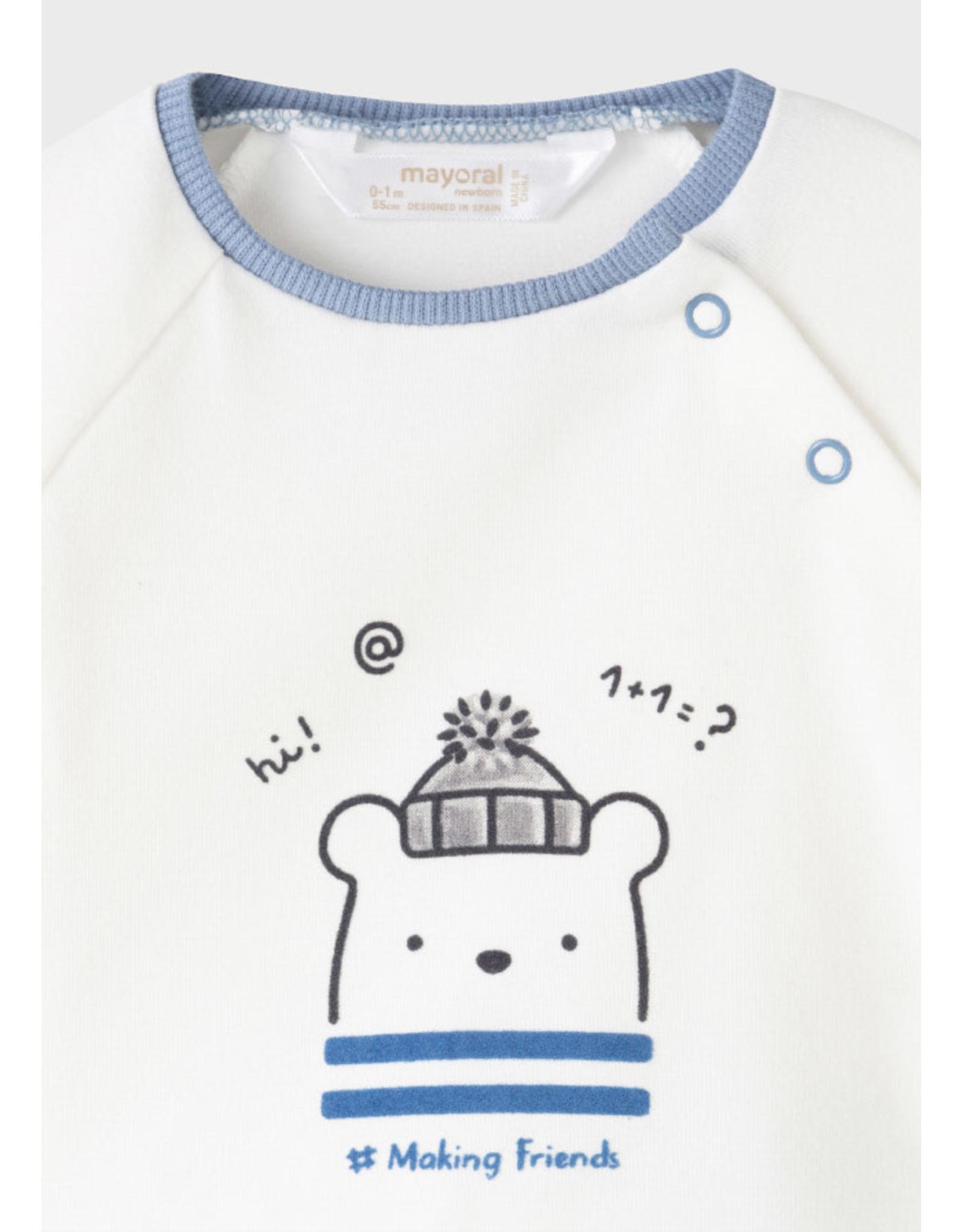 Mayoral Polar Bear Fleece Tracksuit and Shirt