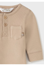 Mayoral Onesie - Cereal Tan with Buttons