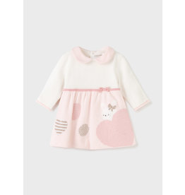 Mayoral Baby Rose Combined Knit Dress