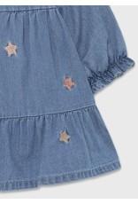 Mayoral Denim Dress w/Stars