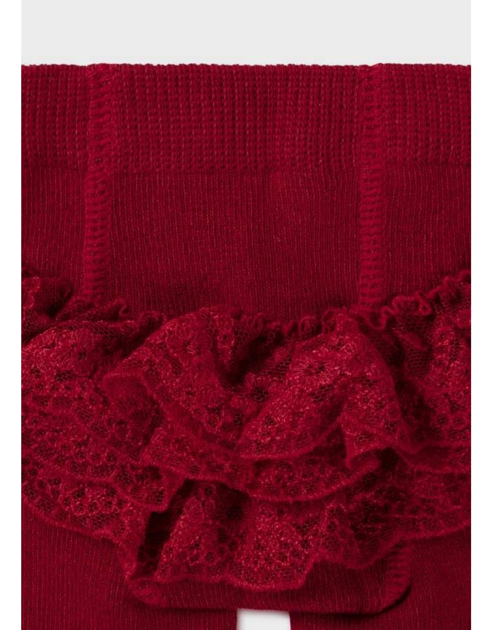 Mayoral Red Flounces Tights
