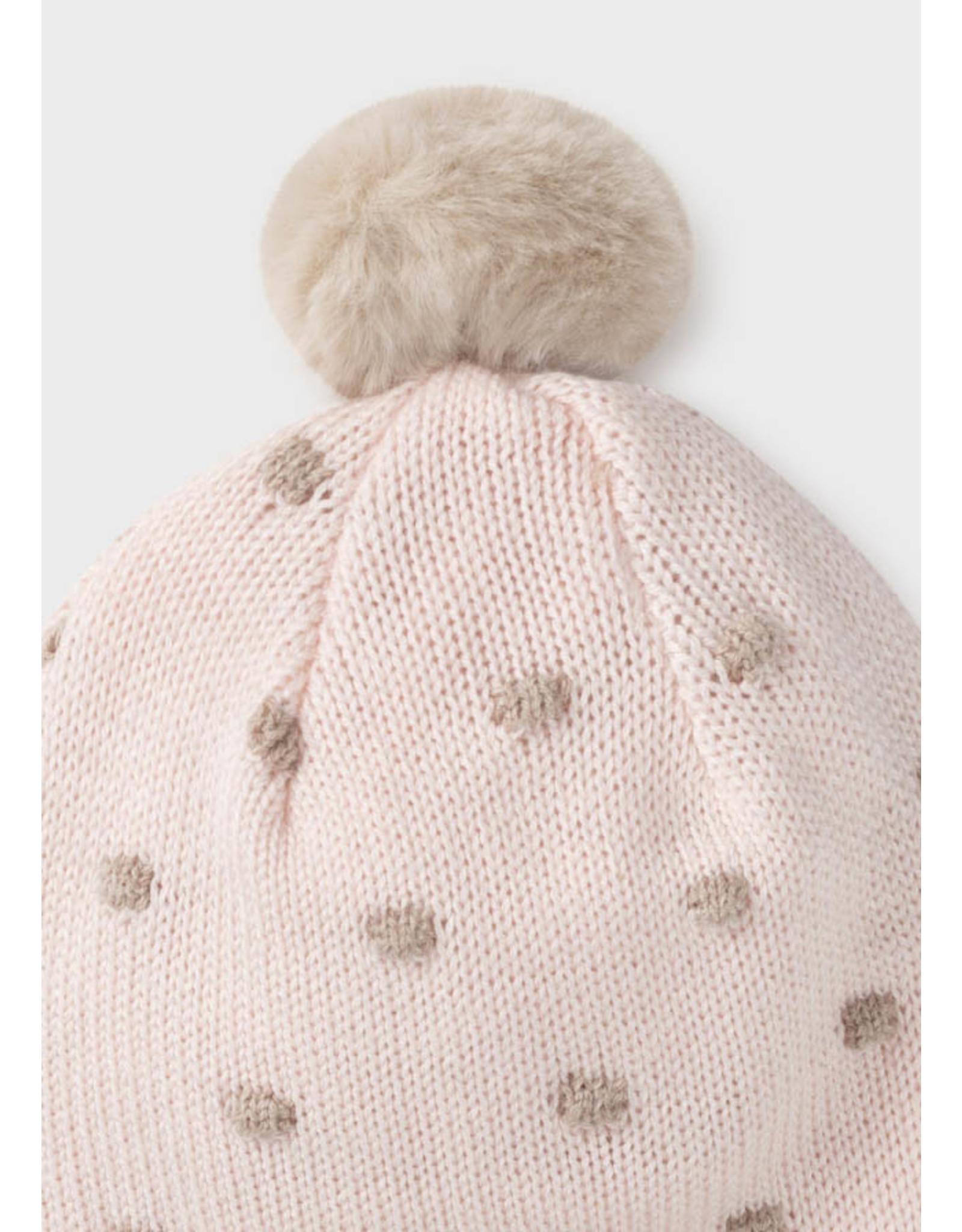 Mayoral Hat/Mittens Set - Baby Rose