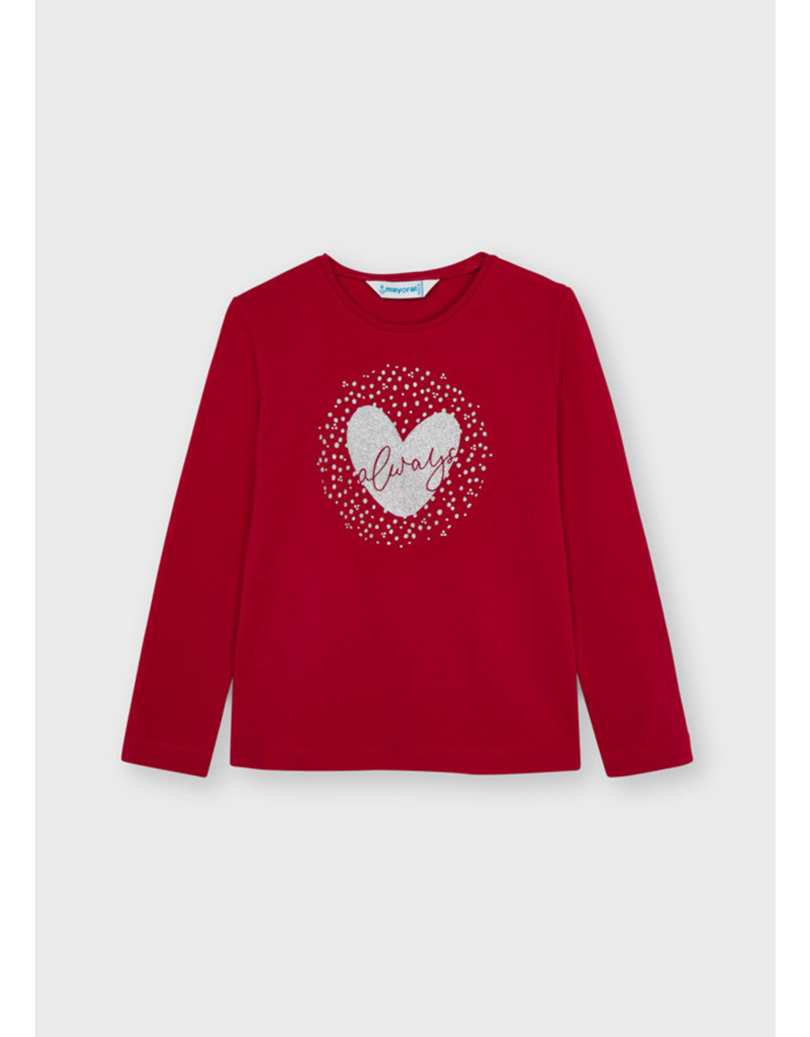 """Mayoral """"Always"""" Red Heart Shirt"""