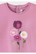 Mayoral Girls Mauve Flower Shirt