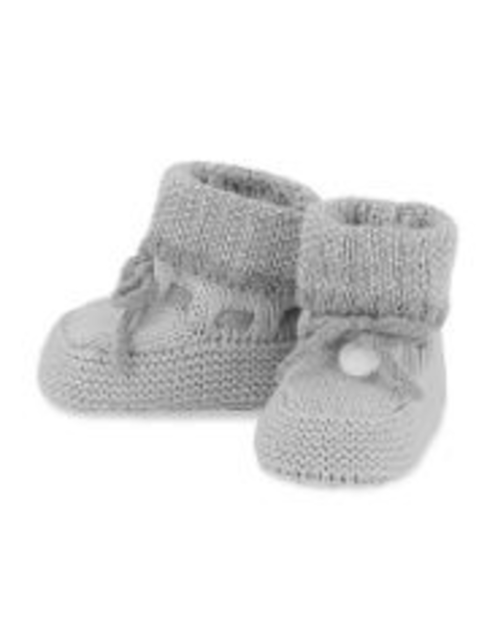 Mayoral Knit Booties - Heather Gray