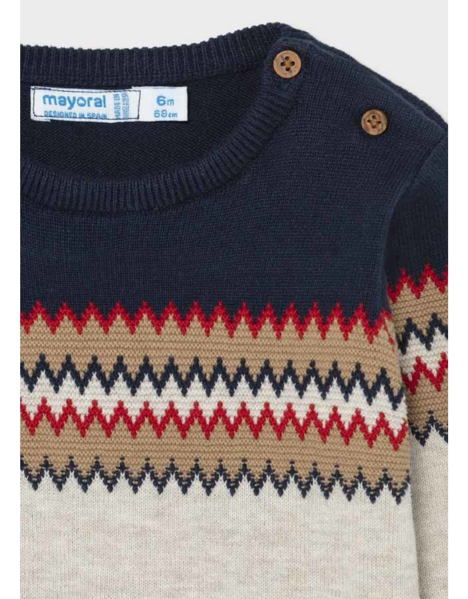 Mayoral Jagged Stripe Sweater