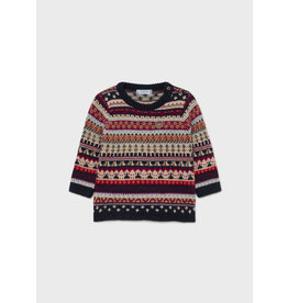 Mayoral Bordeaux Pattern Sweater