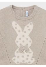 Mayoral Bunny w/Bow Sweater