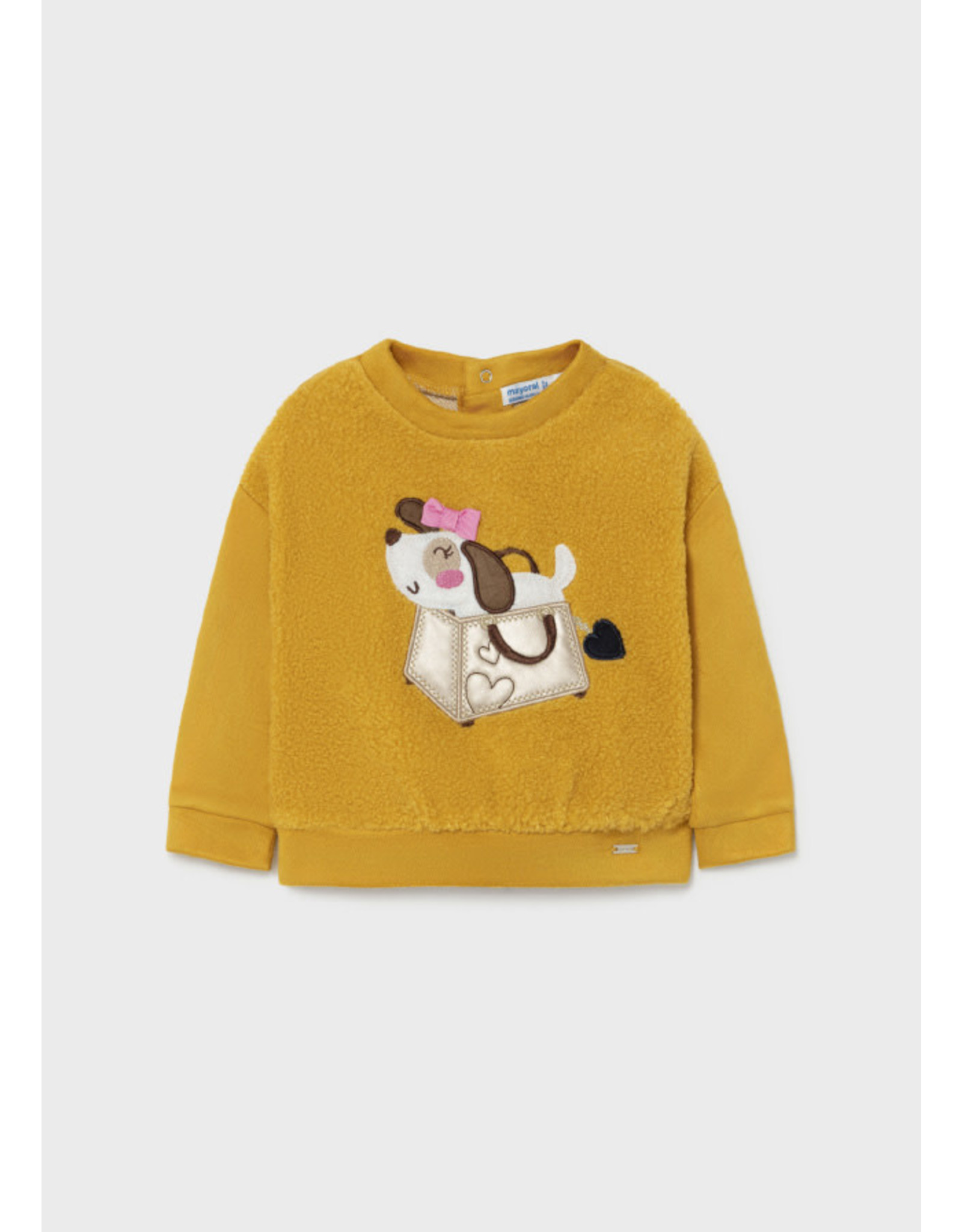 Mayoral Shearling Pullover w/applique