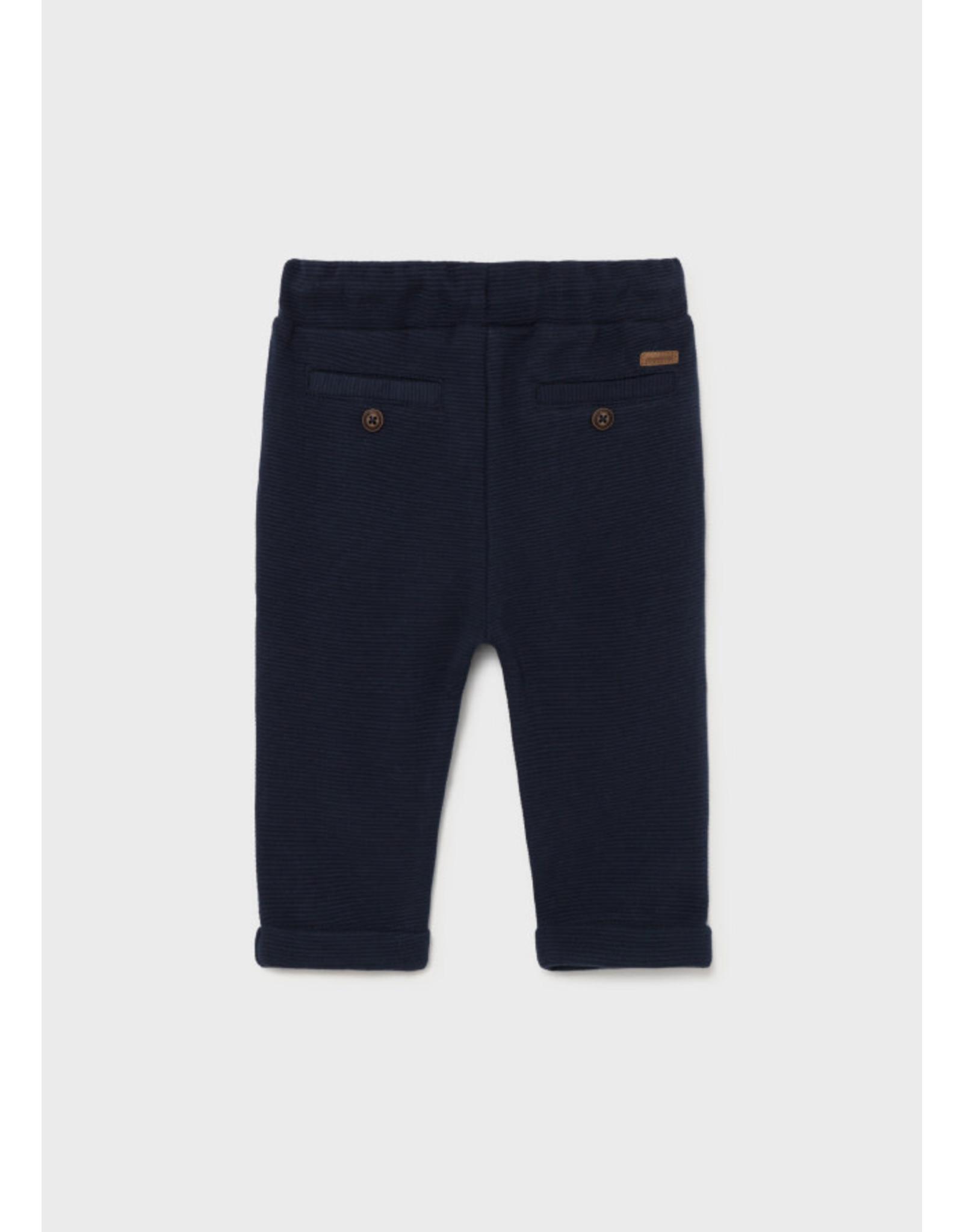 Mayoral Blue Toddler Knit Pants
