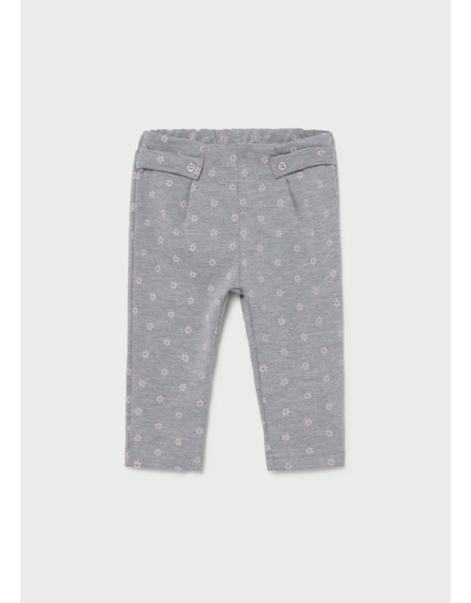 Mayoral Silver Trousers with Flower Accent