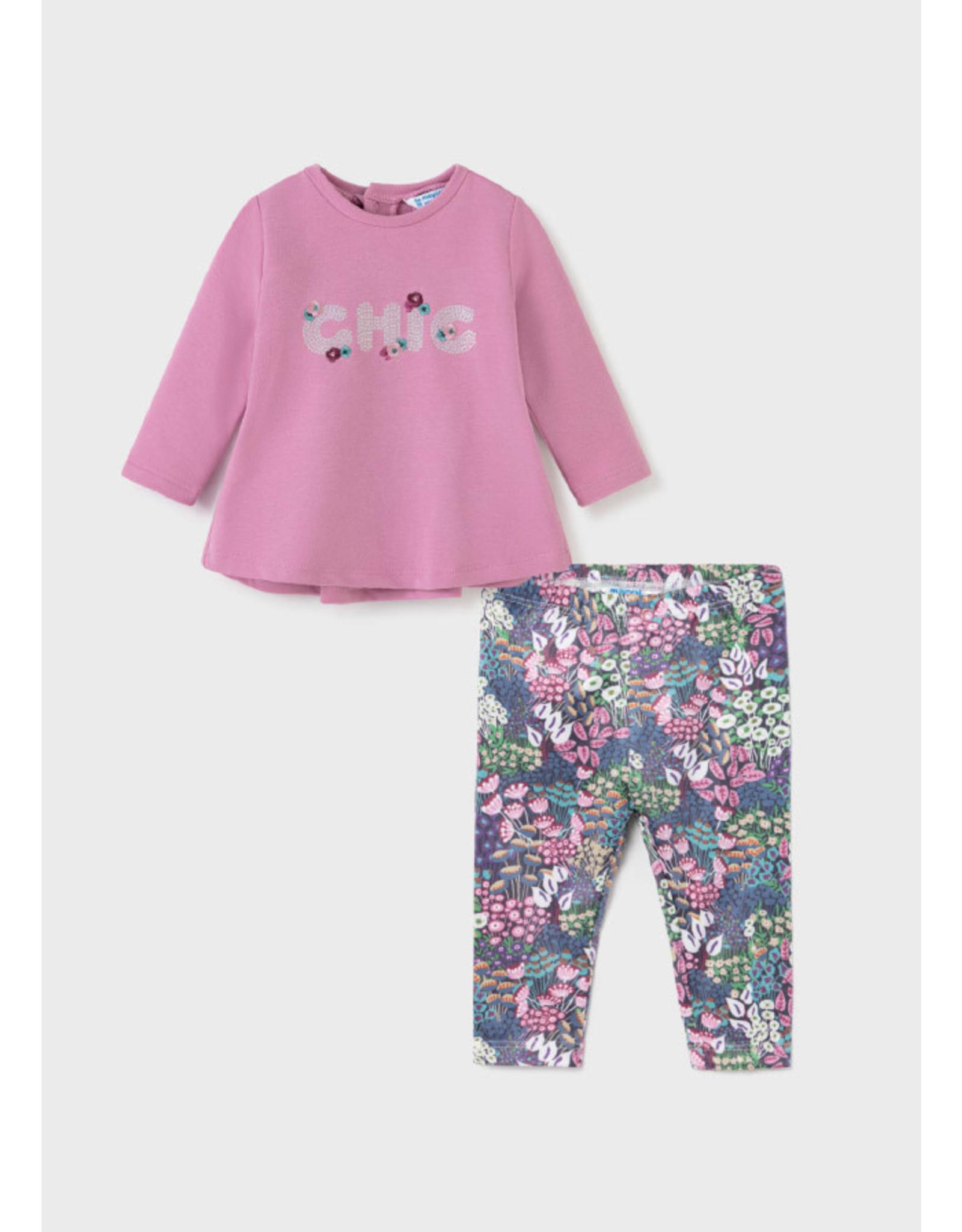 Mayoral Mauve Leggings/Chic Shirt Set