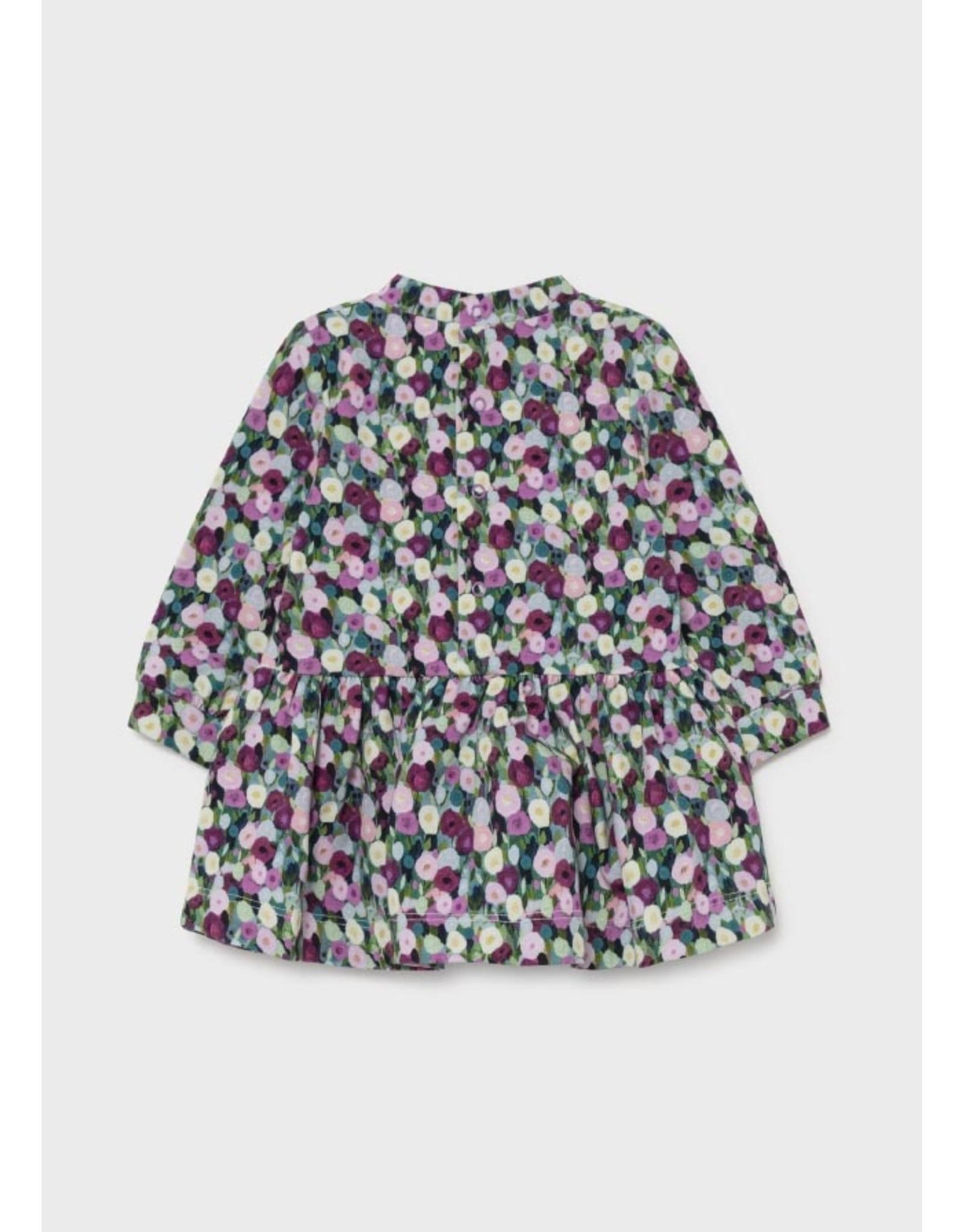 Mayoral Fleece Dress in Mauve Poppy
