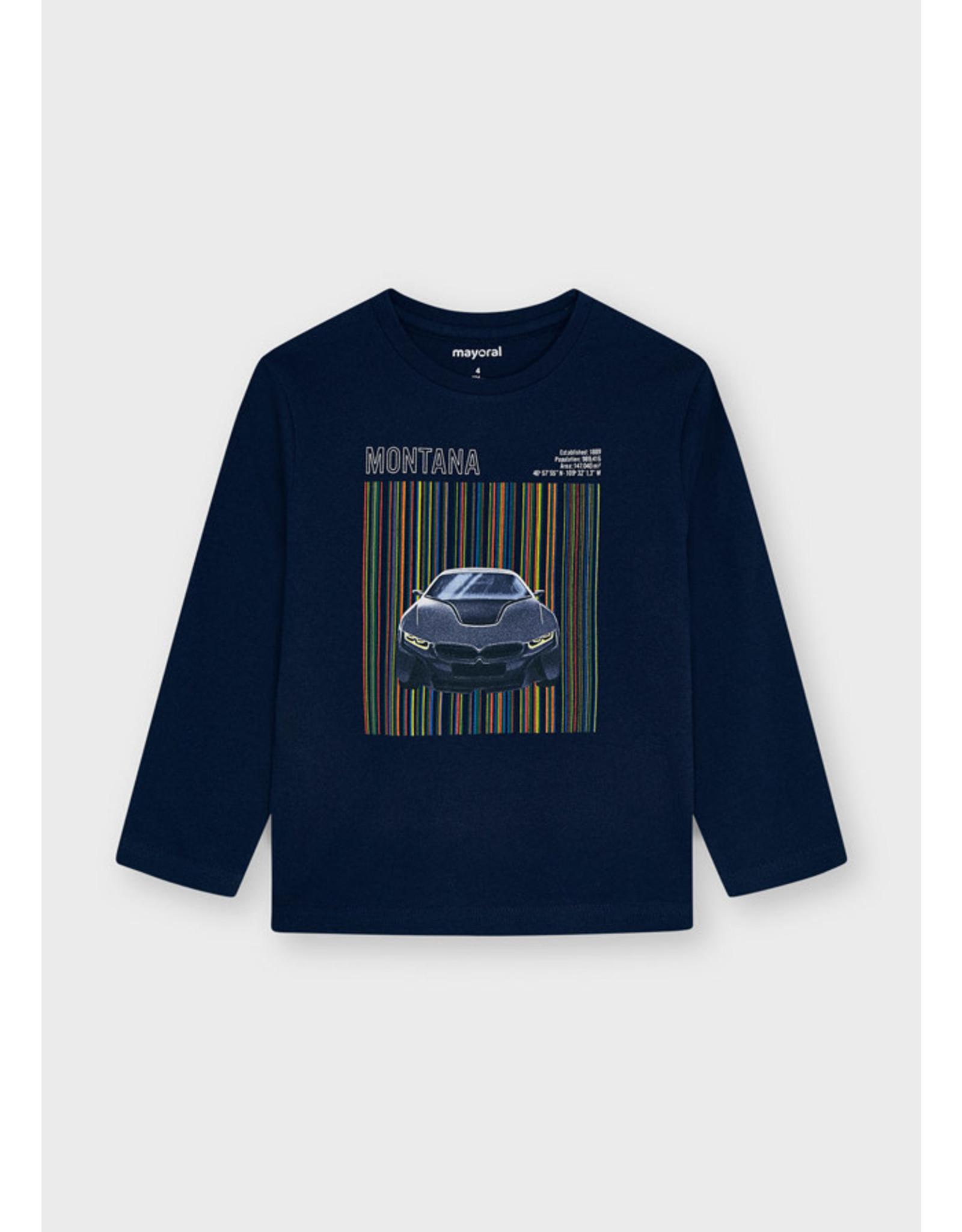 Mayoral Navy Skildscreen Car T-Shirt