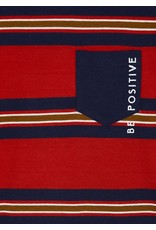 "Mayoral ""Be Positive"" Stripe Shirt"